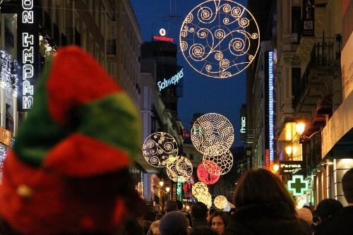 Madrid: luces que festejan el nuevo año
